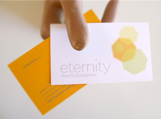 Eternity Photography business card design