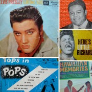 Record covers Elvis, little Richard, Fats, Hawaii