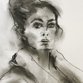 Charcoal Life drawing Tracy Graffin