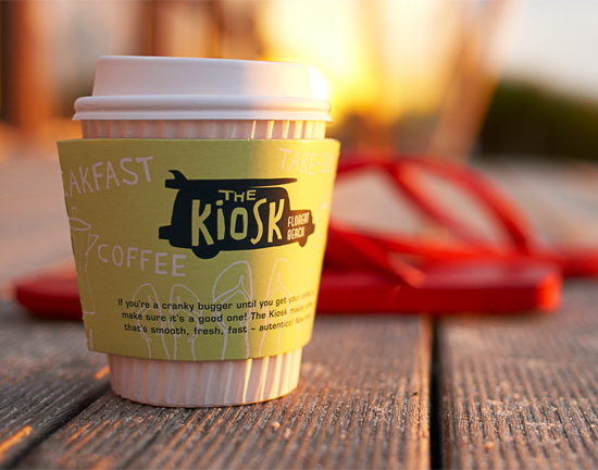 The Kiosk Café, Floreat Beach, Branding & Illustration & Coffee Packaging