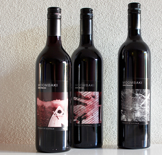Moombaki Wines Packaging Range Wine Labels